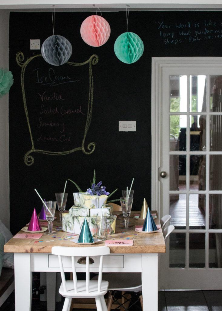 Birthday tea decorations