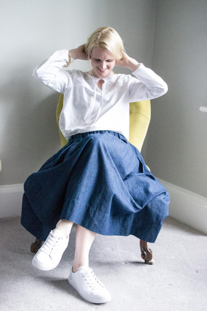 girlstalktoboys marg denim skirt