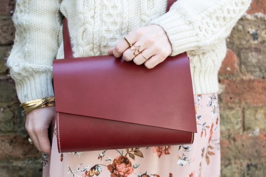 Carv Pioneer Middi Shoulder Bag in Red
