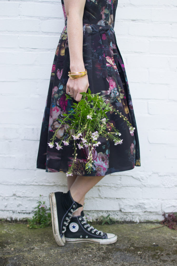 n4mummy wearing thought dress