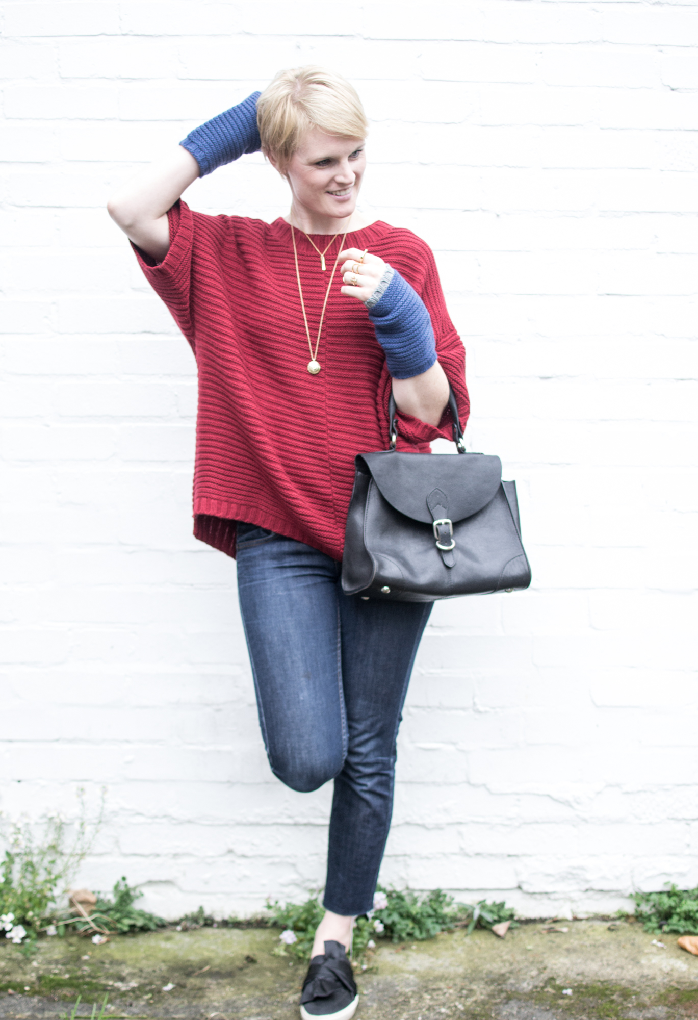 Red Chunky Jumper, Cradle to Cradle Fairwool, Ally Bee