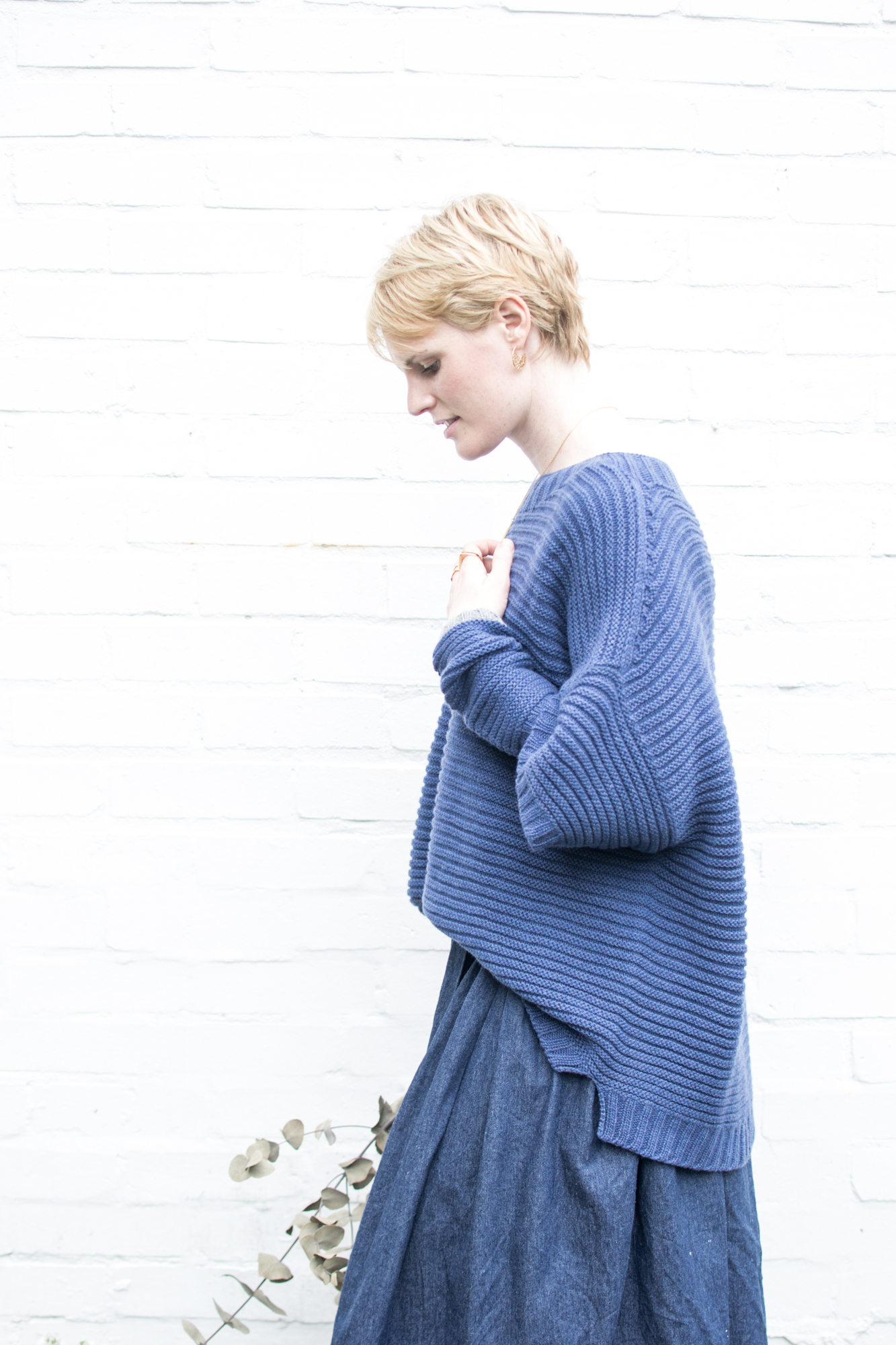 Blue Chunky Jumper, Cradle to Cradle Fairwool, Ally Bee
