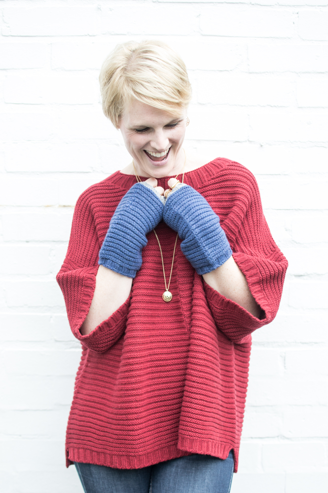 Red Chunky Jumper, Cradle to Cradle Fairwool