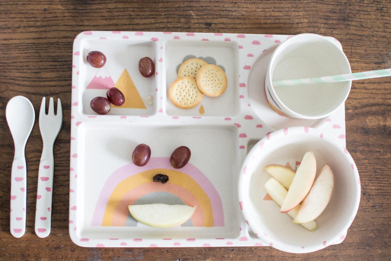 Eco friendly kids dinnerware Love Mae