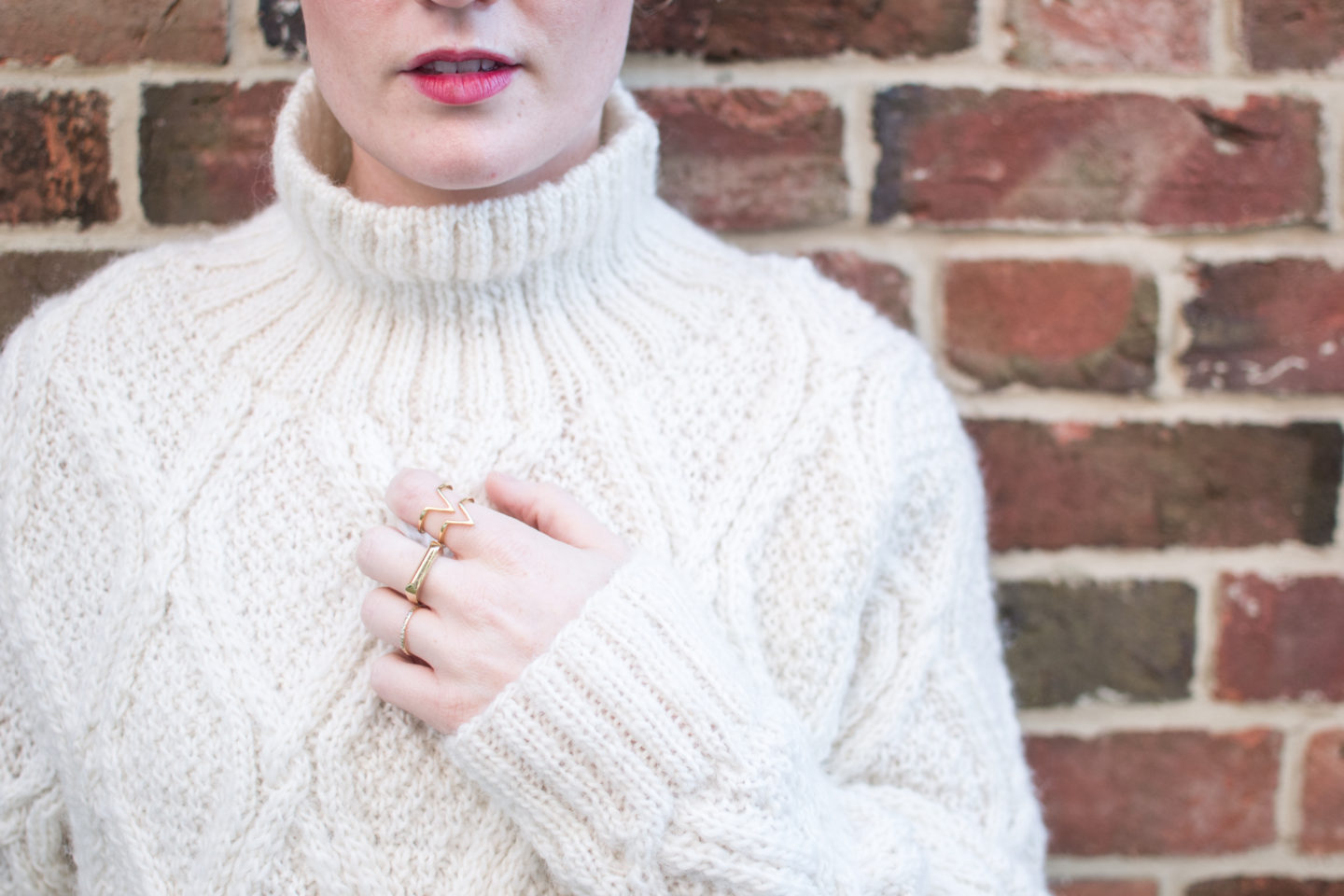 Cream Cable Knit Jumper People Tree