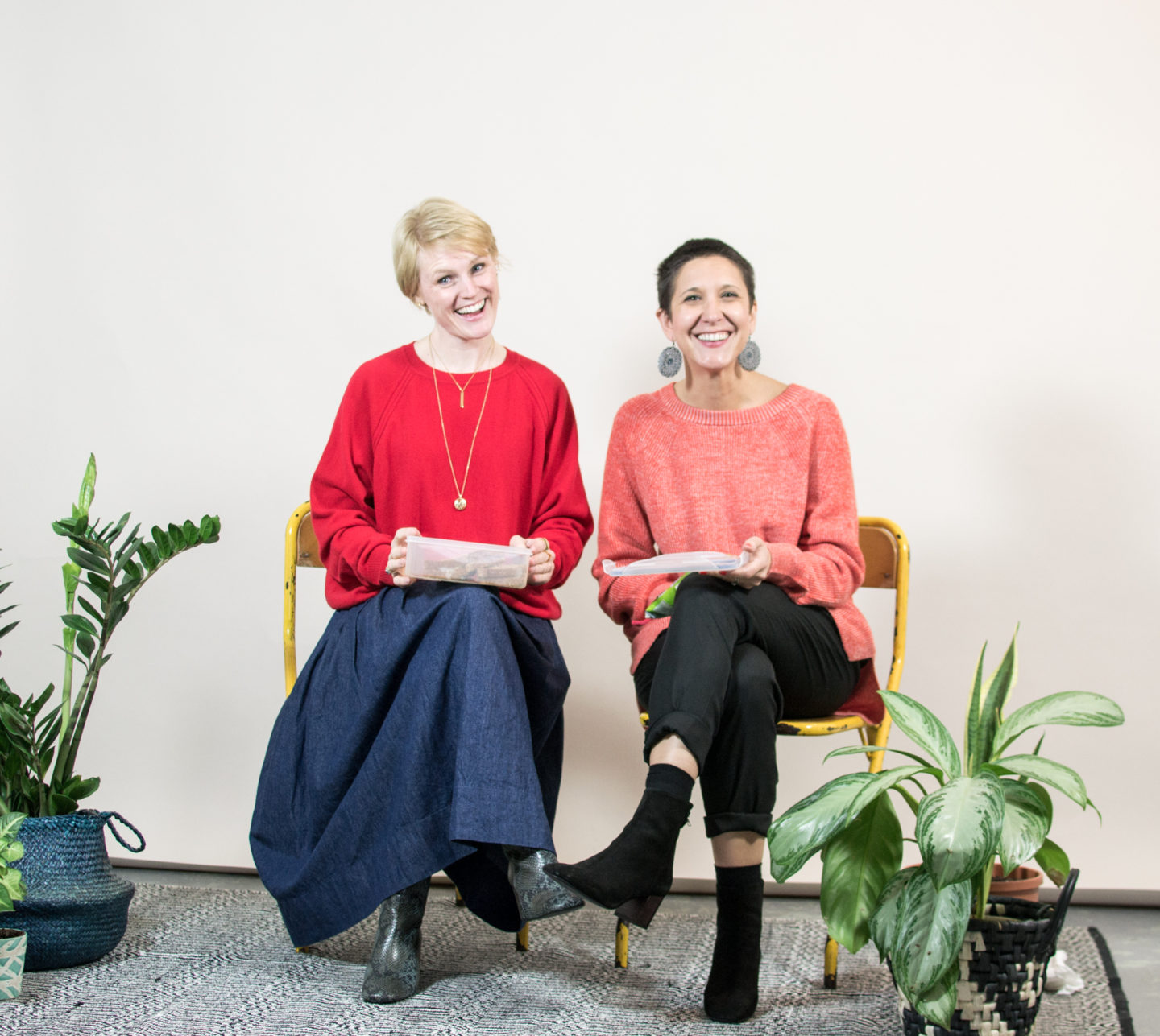 Red Jumpers from Knit Planet and Maska at Green Lens Studio