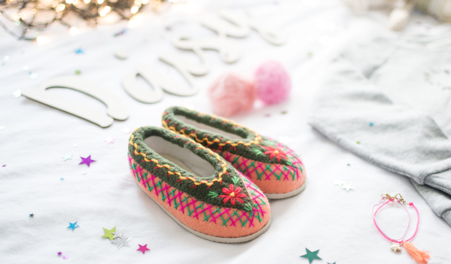 Embroidered Slippers Afolktale
