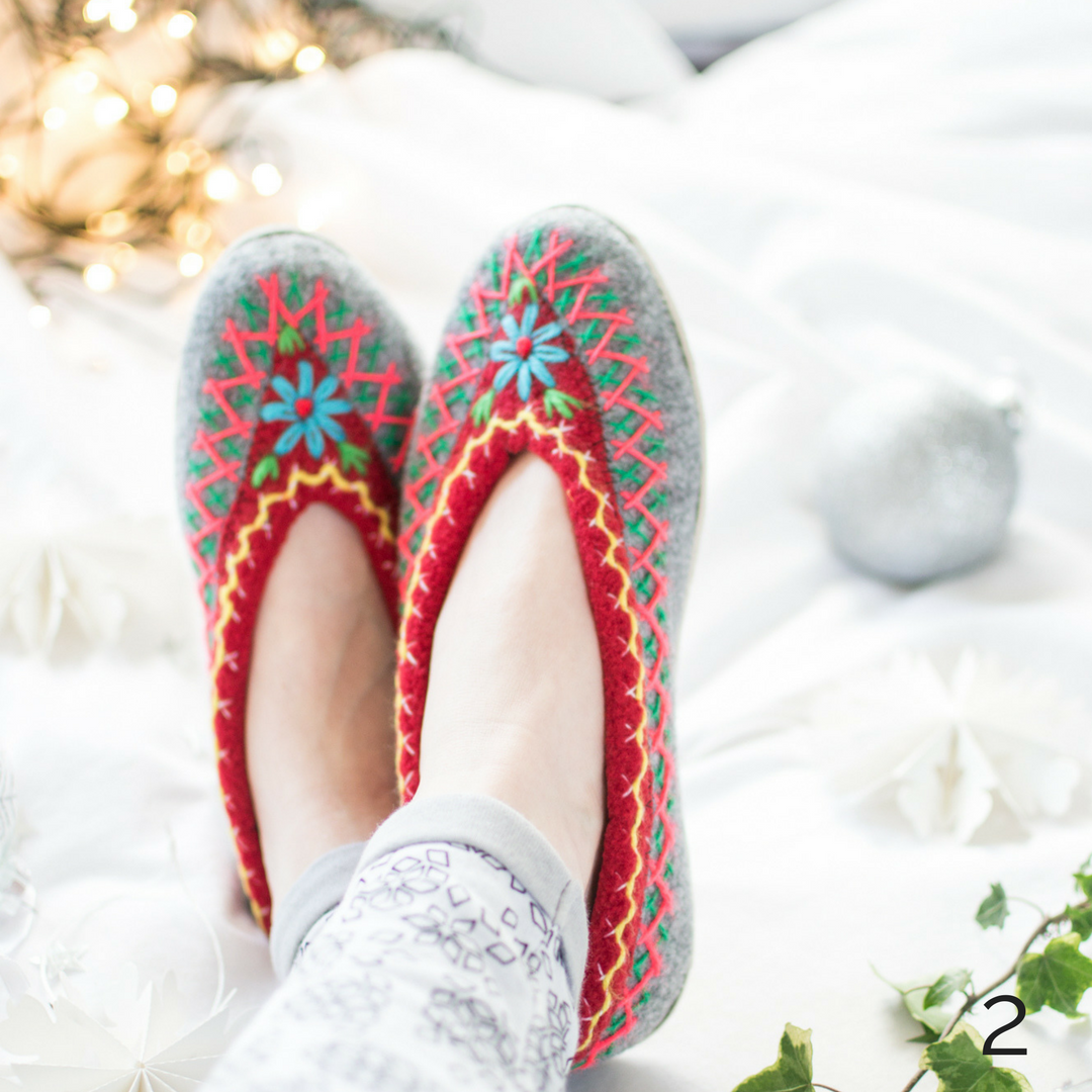 Embroidered Slippers Afolktale