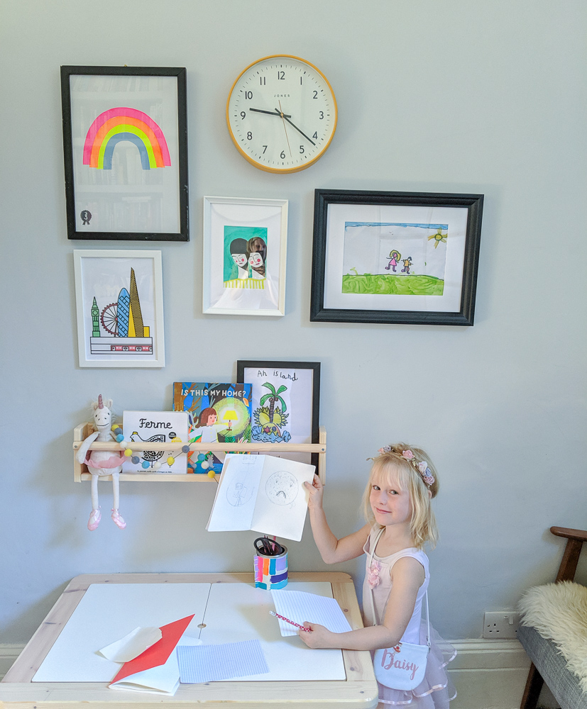 The Creative Workspace for kids, with artwork from Etsy